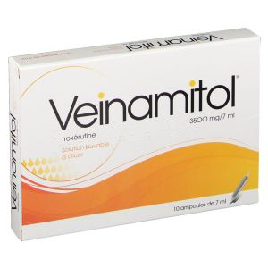 VEINAMITOL 3500 mg/7 ml solution buvable à diluer B/10
