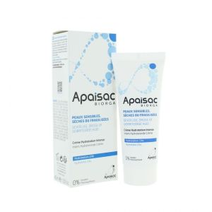 Biorga Apaisac Creme Hydratation Intense Peaux Sensibles Seches Ou Fragilisees 40Ml