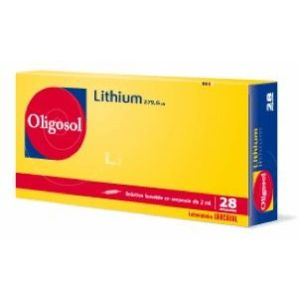 LITHIUM OLIGOSOL SOLUTION BUVABLE EN AMPOULE B/28