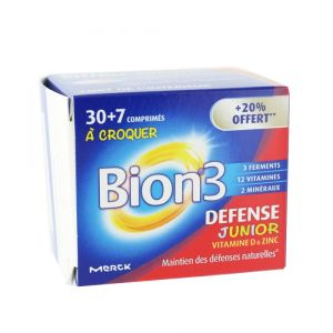 Bion 3 Defense Junior 30 Comprimes + 7 Offerts
