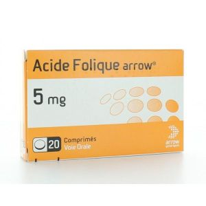 ACIDE FOLIQUE ARROW 5 mg comprimés B/20