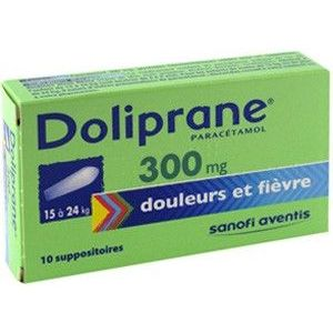 DOLIPRANE 300 mg (paracétamol) suppositoires B/10