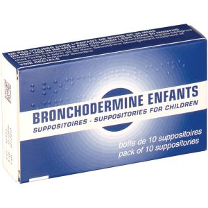 BRONCHODERMINE ENFANTS SUPPOSITOIRE B/10