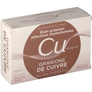 GRANIONS DE CUIVRE 0,3 MG/2 ML SOLUTION BUVABLE B/30