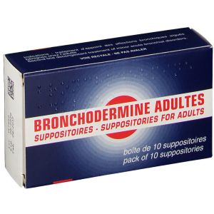 BRONCHODERMINE ADULTES SUPPOSITOIRE B/10