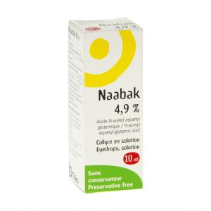 NAABAK 4,9 % (acide N-acétyl aspartyl glutamique) collyre en solution 10 ml en flacon