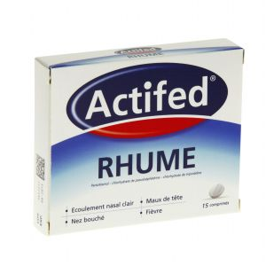 ACTIFED RHUME COMPRIME B/15