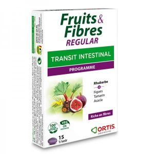 Fruits & fibres regular - 15 comprimés