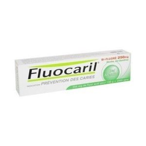 FLUOCARIL BI FLUORE 250 mg MENTHE gel dentifrice 1 tube(s) alumino-plastique de 125 ml