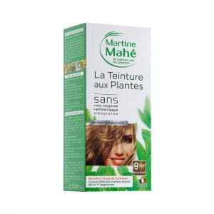 Martine Mahe - Teinture aux Plantes 3 applications 125 ml N°9 Blond Doré