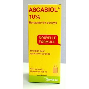 ASCABIOL 10% (benzoate de benzyle) émulsion pour application cutanée 125 ml en flacon