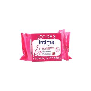 Intima Gyn Expert 60 Lingettes dont 20 Offertes