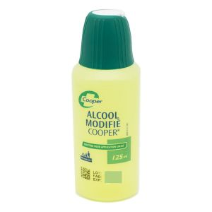 ALCOOL MODIFIE COOPER SOLUTION POUR APPLICATION CUTANEE 1 flacon(s) polyéthylène de 125 ml