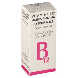 VITAMINE B12 HORUS PHARMA 0,5 POUR MILLE collyre en solution 1 Flacon de 5 ml