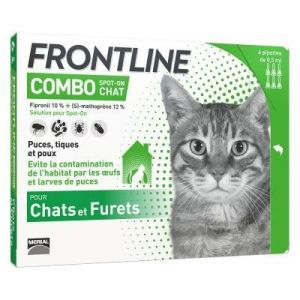 Frontline combo chat  3 mois de protection (3 pipettes)