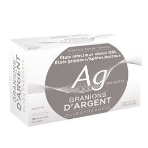 GRANIONS D'ARGENT 0,64 MG/2 ML SOLUTION BUVABLE EN AMPOULE B/30
