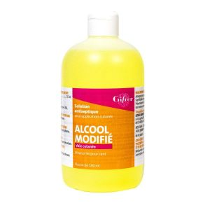 ALCOOL MODIFIE GIFRER SOLUTION POUR APPLICATION LOCALE 1 flacon(s) polyéthylène de 500 ml