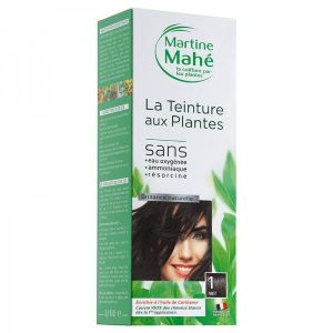Martine Mahe - Teinture aux Plantes 5 applications 250 ml N°1 Noir
