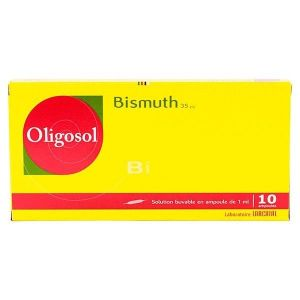BISMUTH OLIGOSOL SOLUTION BUVABLE EN AMPOULE B/10