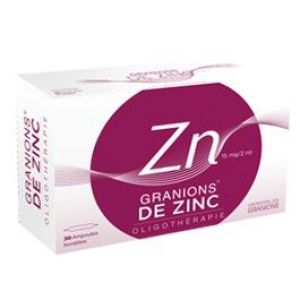 GRANIONS DE ZINC 15 mg/2 ml (gluconate de zinc) solution buvable 2 ml en ampoule B/30