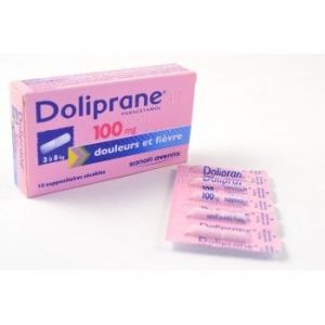 DOLIPRANE 100 mg (paracétamol) suppositoires sécables B/10