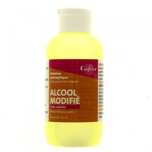 ALCOOL MODIFIE GIFRER SOLUTION POUR APPLICATION LOCALE 1 flacon(s) polyéthylène de 125 ml