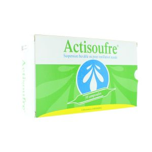 ACTISOUFRE 4MG/50MG PAR 10 ML SUSPENSION BUVABLE OU POUR INSTILLATION NASALE B/30