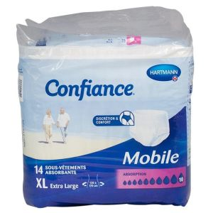 Slip Confiance Mobile Absorption 10 XL - Sachet 14