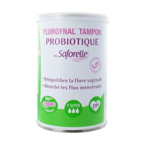 Saforelle Florgynal Tampon Probiotique Applicateur Compact 9 Super