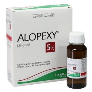 ALOPEXY 5 % solution pour application cutanée B/3