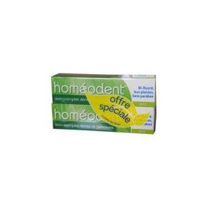 HOMEODENT SOIN COMPLET DENTS ET GENCIVES Anis 2 tubes Pâte Dentifrice 75ML