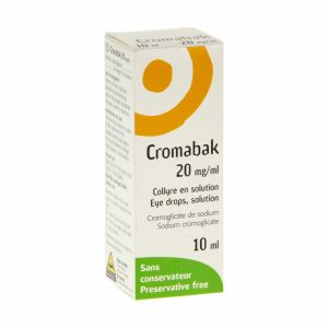 CROMABAK 20 mg/ml (cromoglycate de sodium) collyre en solution 10 ml en flacon