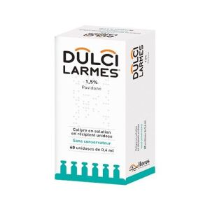 DULCILARMES 1,5% (povidone) collyre en solution 0,4 ml en récipient unidose B/60