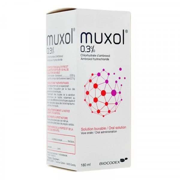 MUXOL solution buvable 1 flacon(s) en verre brun de 180 ml