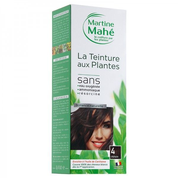 Martine Mahe - Teinture aux Plantes 5 applications 250 ml N°4 Châtain