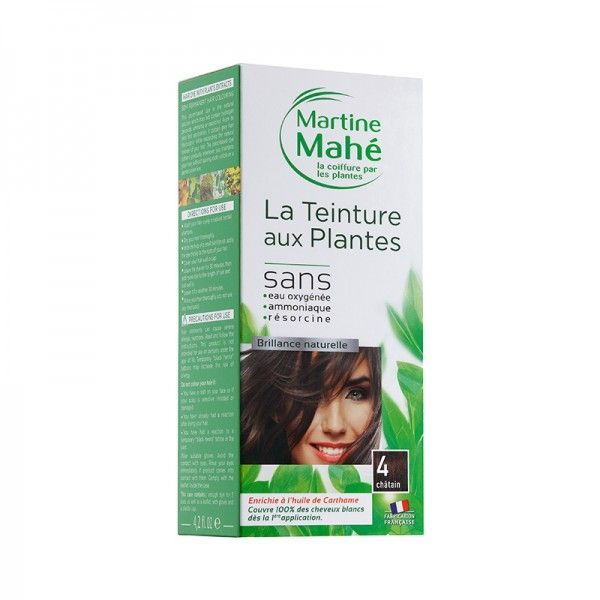 Martine Mahe - Teinture aux Plantes 3 applications 125 ml N°4 Châtain